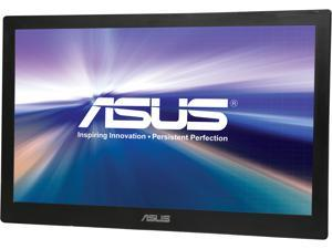 """ASUS MB168B+ Silver / Black 15.6"""" 11ms Widescreen LED Backlight Portable USB-powered LCD Monitor With 1 Year Extended Warranty"""