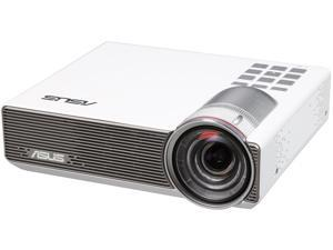 Asus P3B White Portable LED Projector, 1280 x 800,  100000:1, 800 ANSI Lumens, HDMI&MHL&D-sub, Built-in Speaker