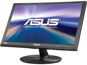 "ASUS VT168H Black 15.6"" 10ms Widescreen Touch Monitor, 10-Point Touch Capacity, VESA Mountable, HDMI, VGA"