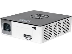 AAXA M6 1080p LED Pico/Micro Projector, 90 Minute Battery, Native Full HD (1920 x 1080) Resolution, 30,000 Hours LED Life, 1200 Lumens