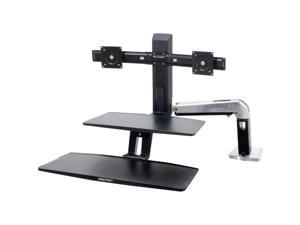 Ergotron 24-392-026 WorkFit-A with Suspended Keyboard, Sit-Stand Workstation, Dual monitors