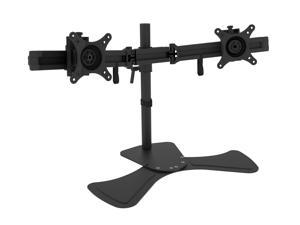 "Rosewill RMS-DDM06 Dual Desk Stand, Foldable arm, Support 13"" - 27"" LCD / LED Display VESA 75 / 100, Tilt ±15°, Swivel 30°, Rotate 360°, Max. Load: 17.64 lbs."