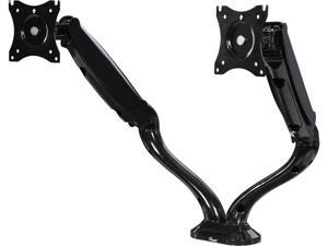 "Rosewill RMS-16002 - Dual Monitor Gas Spring Arm Desk Mount, LCD Screens 13"" - 30"", VESA: 75 / 100mm, Tilt: +90 / -45 degree, Swivel: 180 degree, Rotate: 360 degree,  Max. Load: 17.8 lbs. (Per arm)"