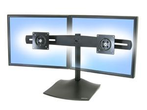 Ergotron 33-322-200 DS100 Dual-Monitor Desk Stand, Horizontal