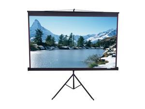 "EliteSCREENS T85UWS1 Tripod Portable Tripod Manual Pull Up Projection Screen (85"" 1:1 AR) (MaxWhite)"