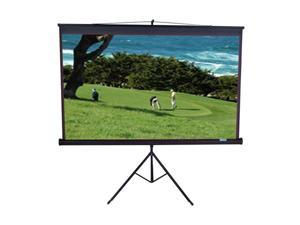 "Elitescreens Tripod Portable Tripod Manual Pull Up Projection Screen (113"" 1:1 AR) (MaxWhite) T113UWS1"