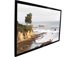 "EliteSCREENS ER114WX1 Sable Frame Wall Mount Fixed Frame Projection Screen (114"" 16:10 AR) (CineWhite)"