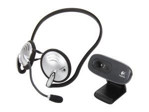 Logitech C270 HD WebCam w/ Behind-the-Head Headset