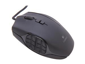 Logitech G600 MMO Gaming Mouse 910-002864 Black 20 Buttons Tilt Wheel USB Wired Laser Mouse