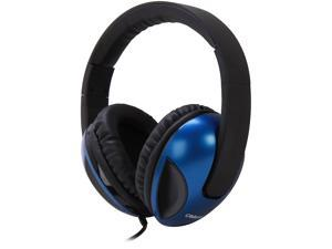 Syba OG-AUD63041 Oblanc Cobra200 2.0 Stereo Headphones with In-line Mic (Blue)