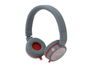 SONY Gray/Orange MDR-ZX600/GRAY Supra-aural Stereo Headphone (Gray/Orange)