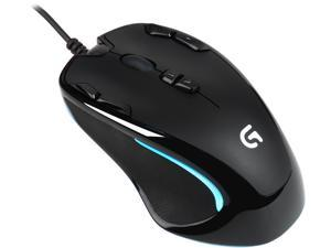 Logitech G300S 910-004360 Black 9 Buttons 1 x Wheel USB Wired Optical 2500 dpi Gaming Mouse