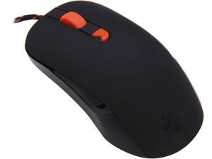 SteelSeries Kana 62030 Black & Orange 6 Buttons 1 x Wheel USB Wired Optical Gaming Mouse