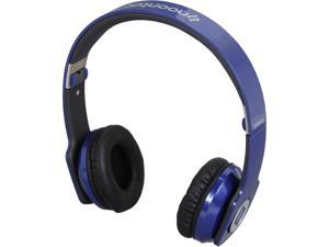 noontec Blue 3.5mm ZORO High Fashion Steel Reinforced SCCB Sound Technology Headphones ZORO-BLU