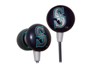 IHIP Blue/Green MLF10169SEA 3.5mm Connector Earbud MLB Seattle Mariners Printed Ear Buds, Blue/Green