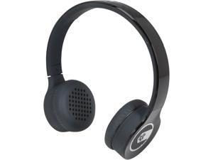 JLAB Black SUPRA-BLK-BOX Supra-aural Sleek Stereo On-Ear Headphones with Cable and Universal Mic