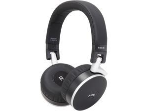 AKG Black Leather with Brushed Metal Parts K495 NC 3.5mm Connector On-Ear Premium Active Noise-Cancelling Headphone