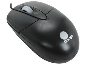 Orange MOUC6660BK Black Wired Optical Mouse