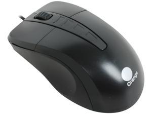 Orange MOUC7070BK Black Wired Optical Mouse
