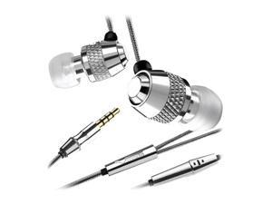 V-MODA Vibe Duo Noise-Isolating In-Ear Buds w/ Mic (Compatible with iPod & iPhone 3 or lower) - Chrome