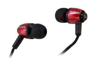 V-Moda Rouge Red EA-VFD-ROUGE Faders VIP Tuned Metal Earplugs (Rouge Red)