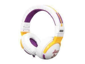 Skullcandy Hesh SGHEBZ-12 Circumaural Headphone with Mic - NBA Lakers White (2011 Model)
