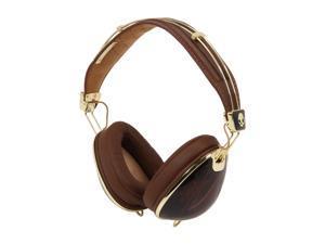 Skullcandy Roc Nation Aviator Binaural Headphones w/Mic3 - Brown/Gold (2011 Model)