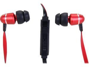 Mee audio M9P In-Ear Headphone w/ Microphone, Remote, and Universal Volume Control (Red, second generation)
