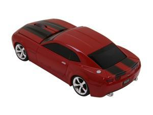 Road Mice RM-08CHCCRXK Red With Black Stripes RF Wireless Optical Chevrolet Camaro Mouse