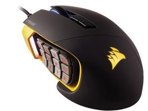 Corsair Gaming SCIMITAR PRO RGB Gaming Mouse, Backlit RGB LED, 16,000 dpi, MMO, Yellow, Optical