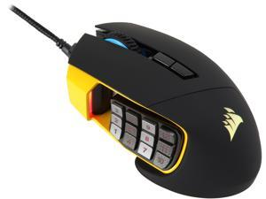 Corsair Gaming SCIMITAR RGB MOBA / MMO Gaming Mouse Worldwide version, Key Slider Mechanical Buttons, 12000 dpi, Yellow