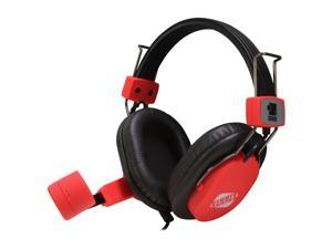 ZOWIE GEAR Hammer Red Circumaural e-SPORT Gold-plated Connector Gaming Headset