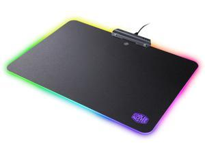 Cooler Master MasterAccessory RGB Hard Gaming Mousepad with Optimized Surface, Non-Slip Grips, and Nine RGB Presets