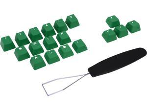 Rosewill - Rubber Keycaps (18) with Key Puller (1) for Cherry MX Switches - Illuminated Keyboards - RBKC18 GR