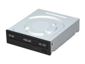 ASUS CD/DVD Burner Black SATA Model DRW-24B1ST