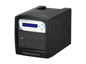 VINPOWER Black 1 to 7 USBShark USB Duplicator w/ 8 FREE 4GB Flash Drives Model USBShark-7T-BK-W/8F
