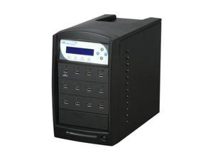 VINPOWER Black 1 to 11 USBShark Duplicator w/ 12 FREE 4GB Flash Drives Model USBShark-11T-BK-W/12
