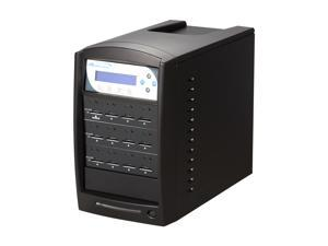 VINPOWER 1 to 11 Secure Digital (SD) / Micro SDHC (MicroSD) Flash Memory Duplicator Black Model SDShark-11T-BK