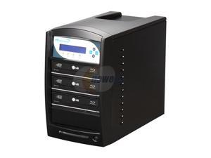 VINPOWER Black 1 to 3 Blu-Ray / DVD / CD Tower Duplicator + 500GB Hard Drive + USB 3.0 2.0 + Multi-file CopyConnect Model ...