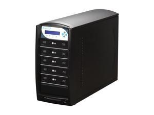 VINPOWER Black 1 to 5 16X DVD+R 8X DVD+RW 4X  DVD+R DL 16X DVD-R 6X DVD-RW 48X CD-R 24X CD-RW Blu-Ray / DVD / CD Tower Duplicator ...