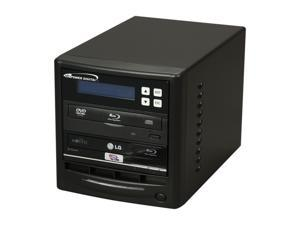 VINPOWER Black 1 to 1 SATA Blu-ray DVD CD Duplicator + BD-ROM + USB 3.0 2.0 Model Econ-S1T-BD-NRUSB3