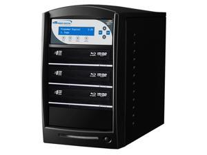 VINPOWER Black 1 to 3 SharkNet Network Capable Blu-ray DVD CD Duplicator + USB 3.0 + 500GB HDD Model SharkNet-3T-BD-BK
