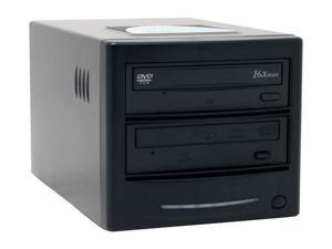 Spartan Black 1 to 1 DVD Duplicator With Pioneer Burner, USB port, password protection Model DM-ILY-DVDBKP(B)