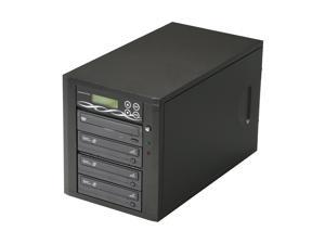 Spartan Black 3 Target CD/DVD Light Scribe Tower Duplicator Model D03-SSP-L
