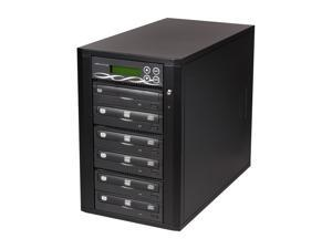 Spartan Black 5 Target SATA DVD/CD Tower Duplicator Model D05-SSP