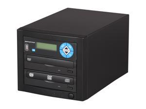 Spartan Black 1 Target Duo SATA DVD Duplicator with USB Slot Model D01-SDSP