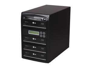 Systor Black 1 to 4 Blu Ray SATA 12X Duplicator + 500GB HDD + USB 2.0 Model 04ALTABR12