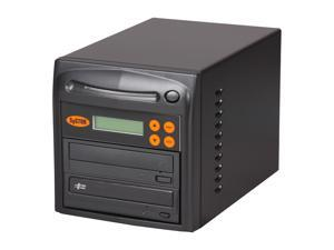 Systor Black 1 to 1 SATA 24X Burner DVD CD Duplicator w/ USB Connection Model SYS01DU