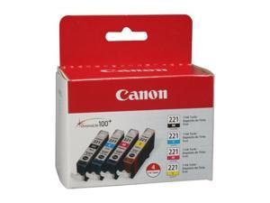 Canon CLI-221 4-pack Color Ink Cartridge&#59; 1 Black, 1 Cyan, 1 Magenta, 1 Yellow (2946B004)