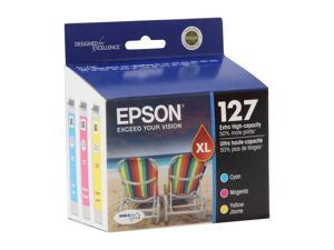 EPSON 127 (T127520) Extra High-Capacity Ink Cartridge Multi-Pack Cyan / Magenta / Yellow
